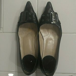 Christian Dior Genuine Leather Pointy Toe Flats